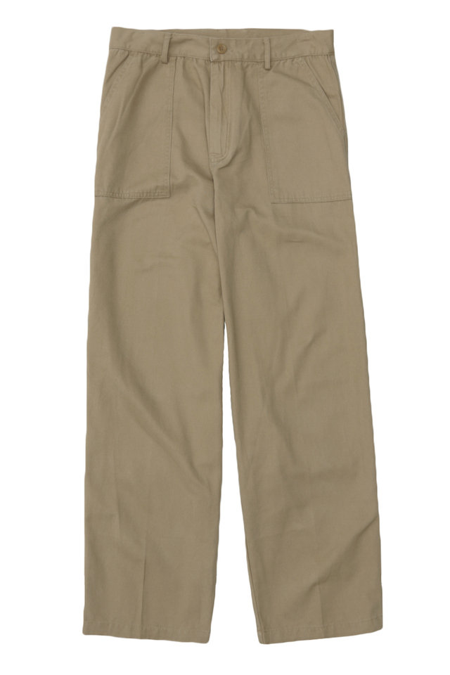 ENZO STRAIGHT-FIT WORK TROUSERS IN DUNE