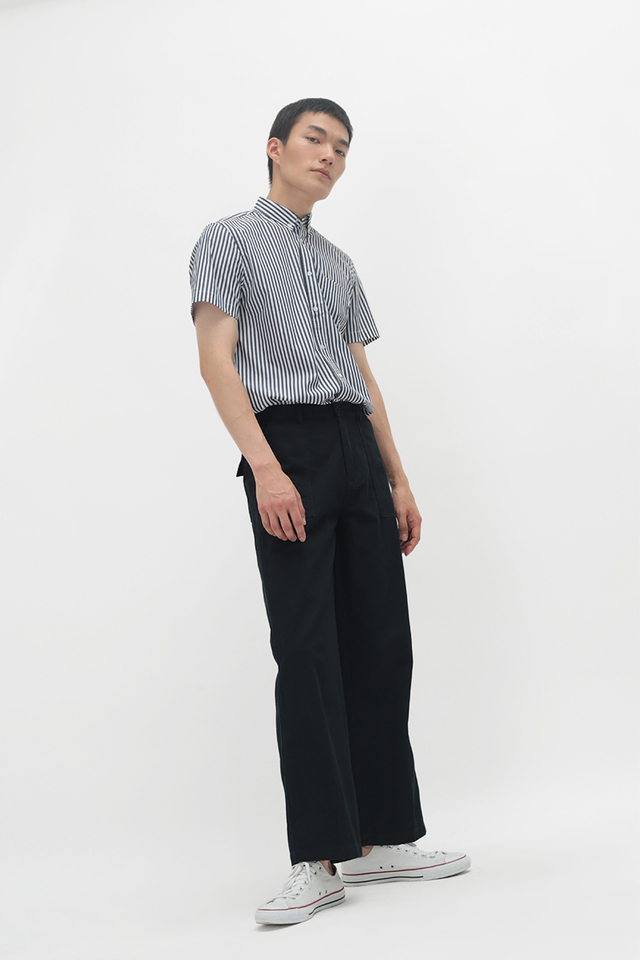ENZO STRAIGHT-FIT WORK TROUSERS IN NAVY