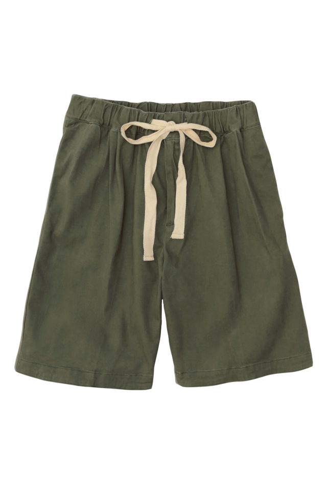 POTTER DRAWSTRING SHORTS IN OLIVE