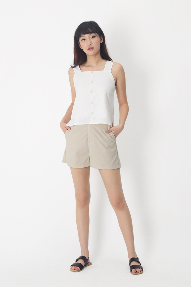 TERRI HI-WAIST SHORTS IN OAT