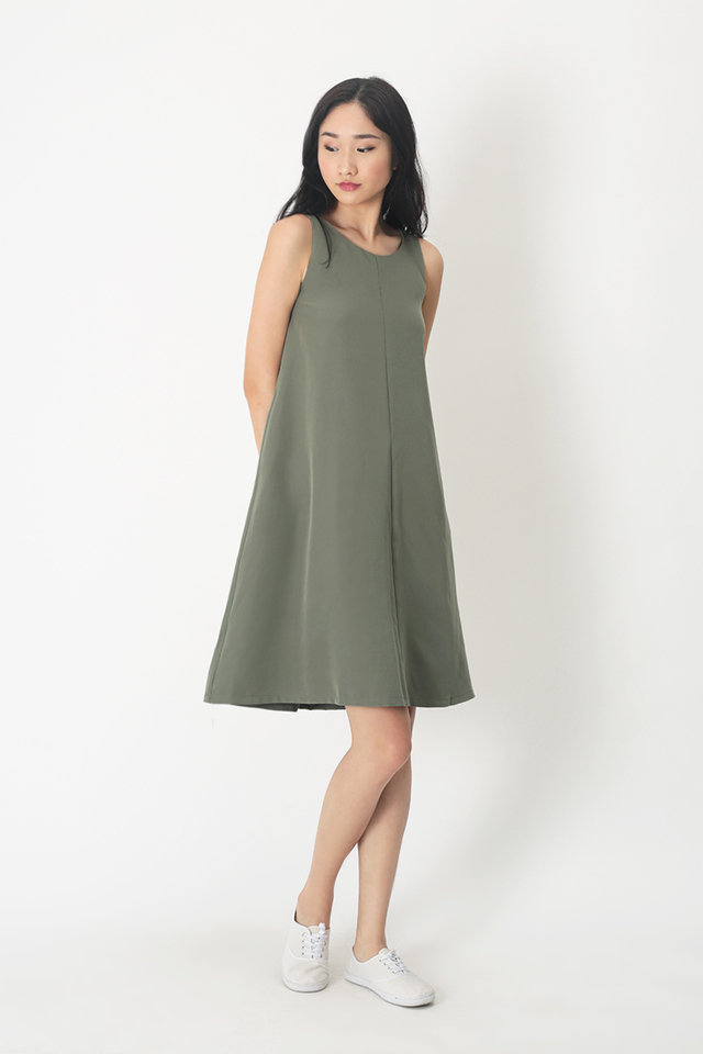 THALISSA TWO WAY DRESS IN SAGE