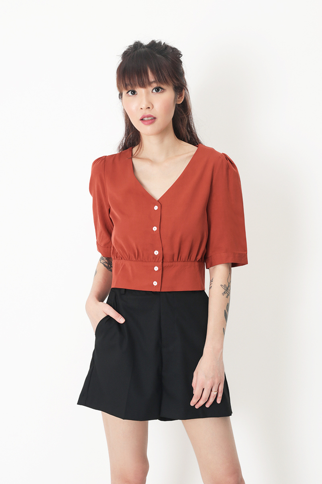 INEZ BUTTON BLOUSE IN AUTUMN