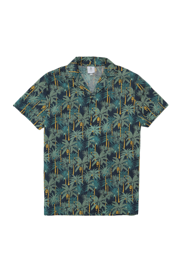 KAI RIO CAMP COLLAR SHIRT IN NAVY