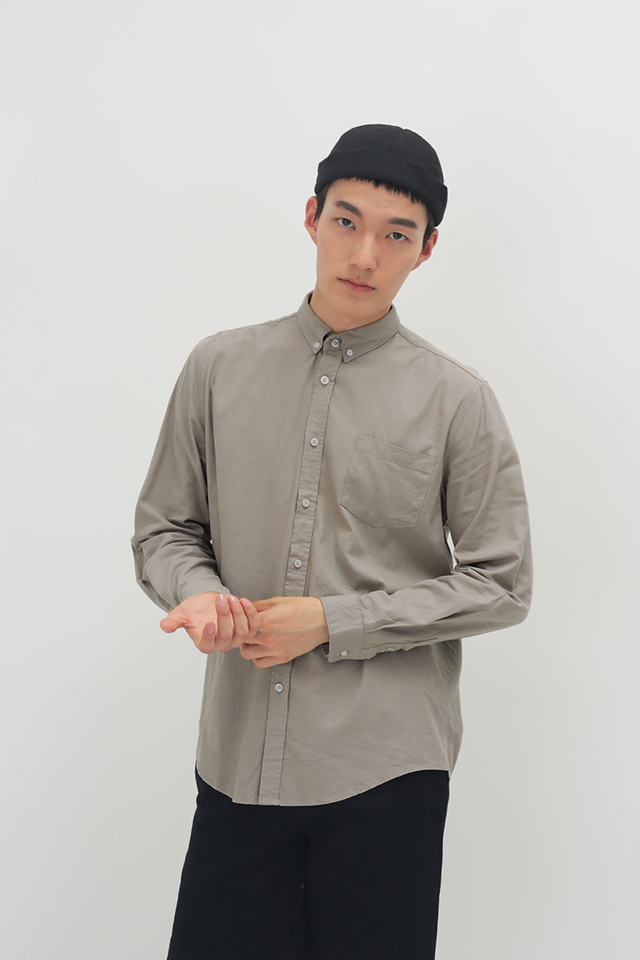 LUKA LINEN SHIRT IN TAUPE