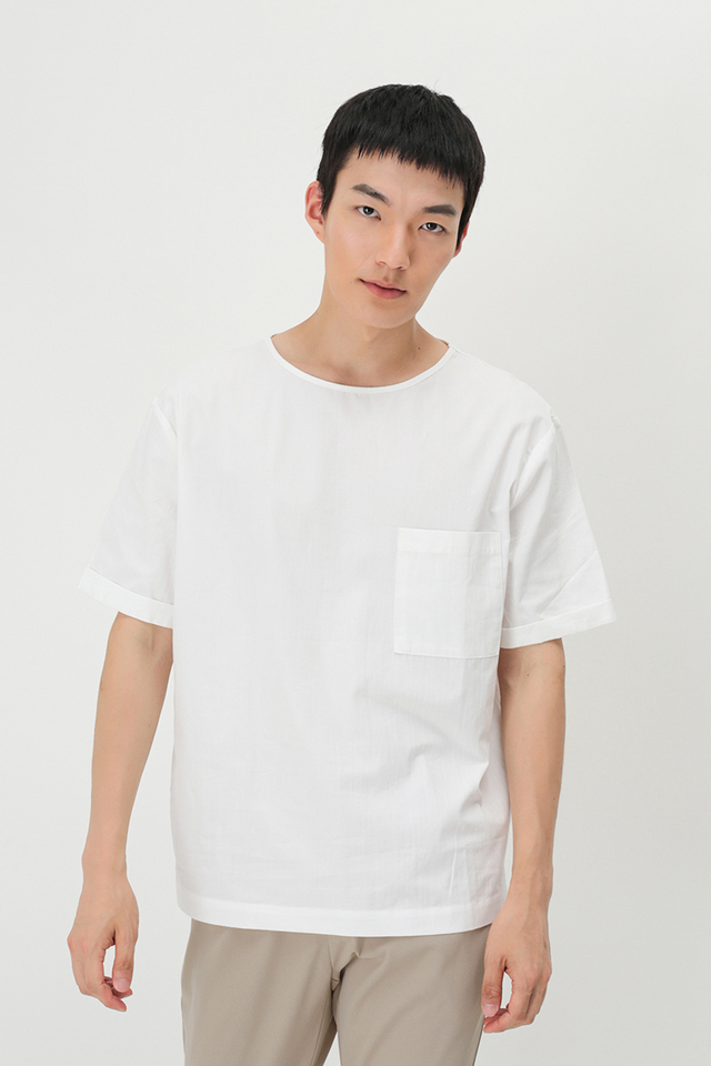 ARI POCKET TOP IN WHITE