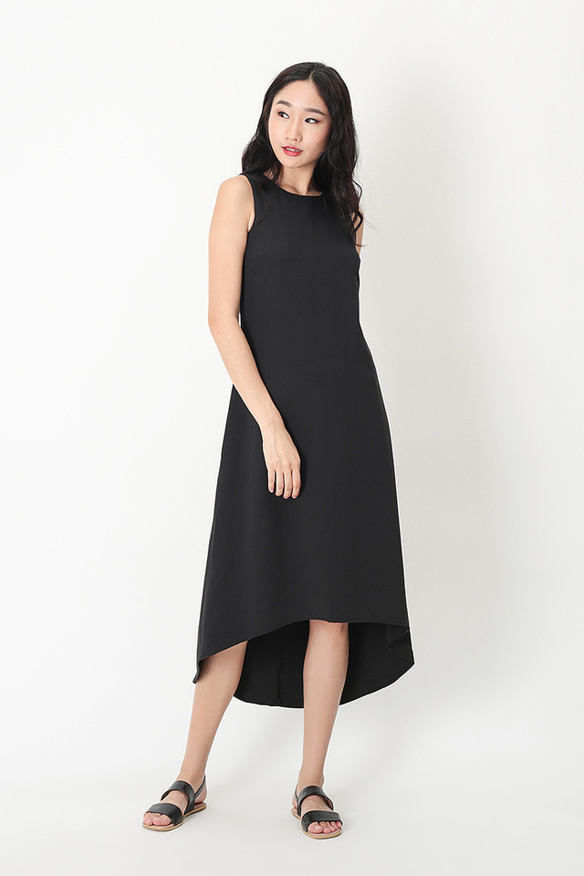 CELINE MIDI TANK DRESS IN BLACK