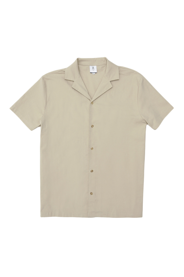 KAI CAMP COLLAR SHIRT IN SAND