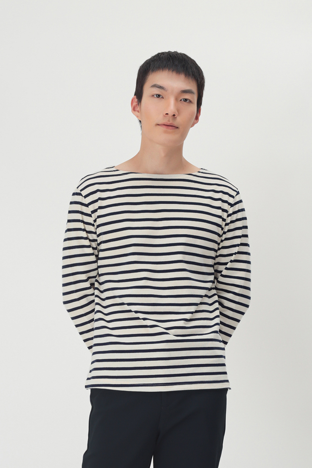 LOUIS BRETON STRIPE TOP IN OFF-WHITE