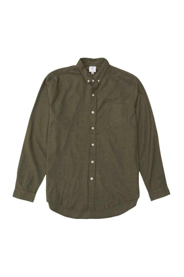 LUKA LINEN SHIRT IN OLIVE
