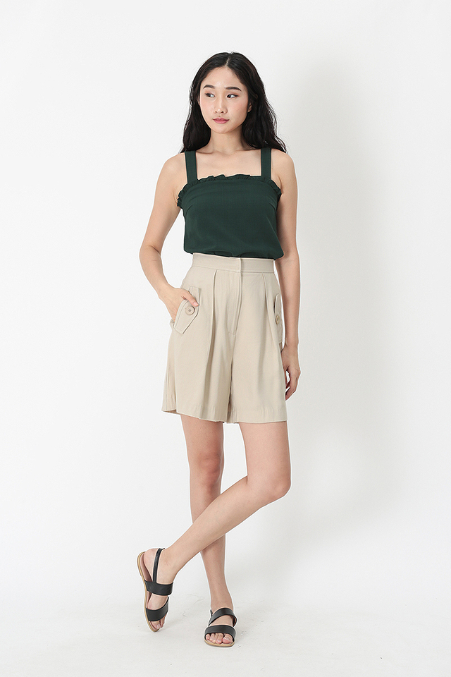 MIA FRILL TOP IN FOREST