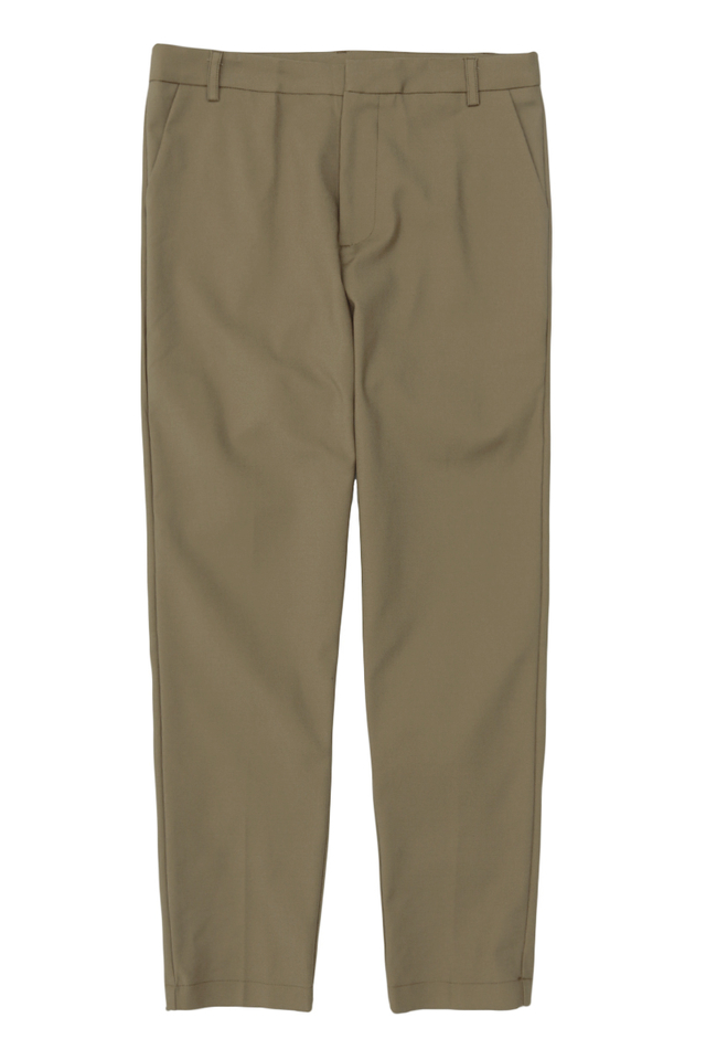 OLLIE SKINNY-FIT TROUSERS IN UMBER