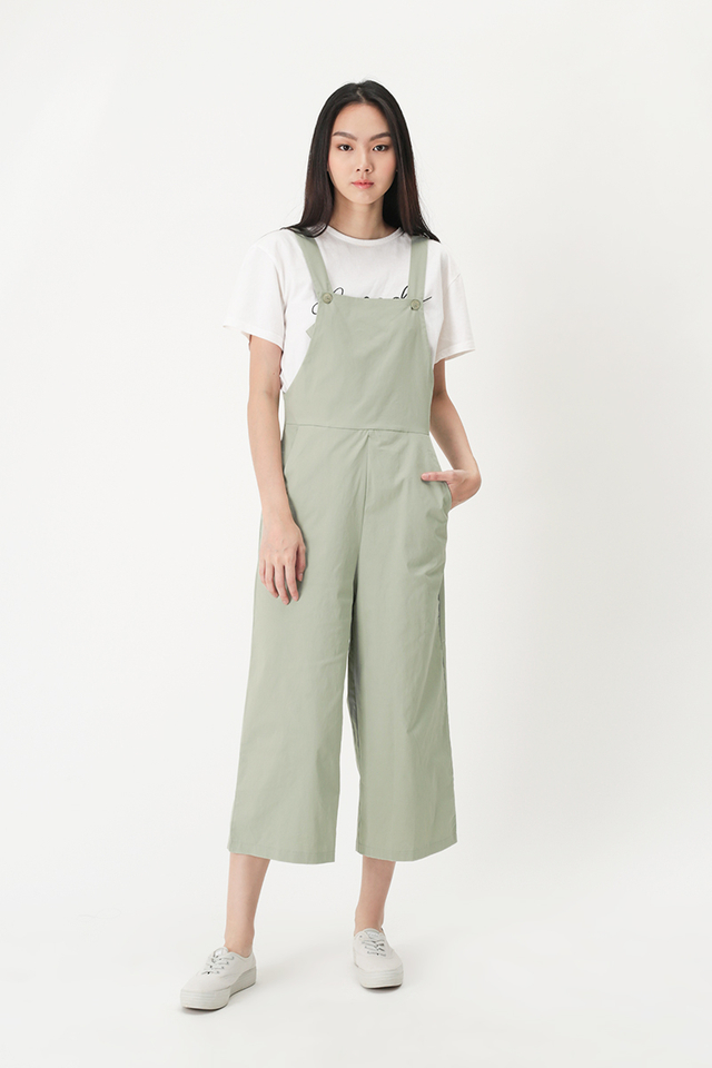 SHANNON BUTTON DUNGAREE IN LAUREL
