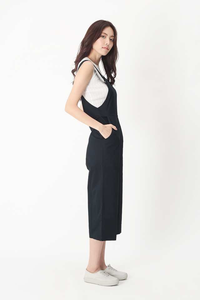 SHANNON BUTTON DUNGAREE IN NAVY