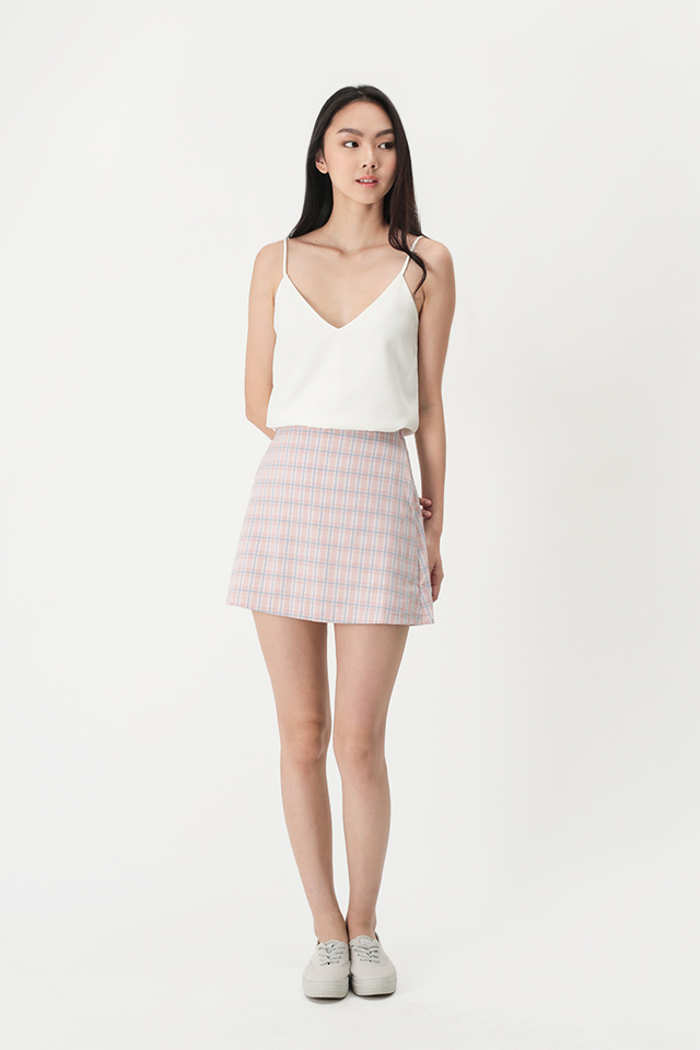 ACE GIRL PLAID SKORTS IN PINK