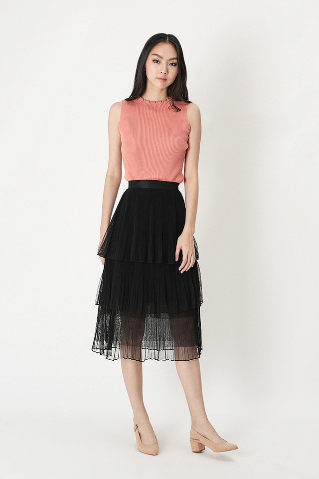ARABELLE TULLE SKIRT IN BLACK
