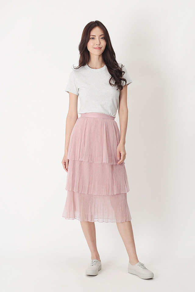 ARABELLE TULLE SKIRT IN DUSTY PINK
