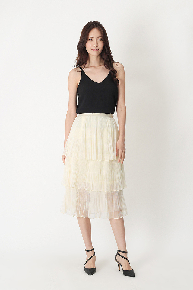 ARABELLE TULLE SKIRT IN VANILLA
