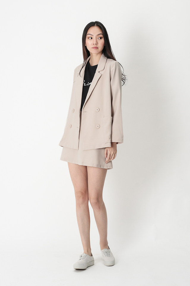 BERNADETTE POCKET BLAZER IN CREAM
