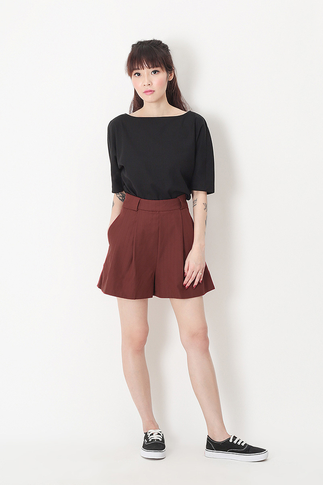 EMILY STRIPE SASH SHORTS IN AUTUMN