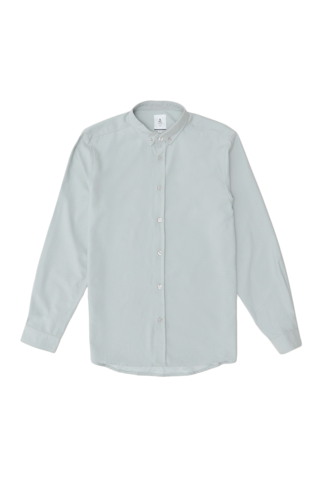 FORD LONG SLEEVE BUTTON-DOWN SHIRT IN FROST GREY