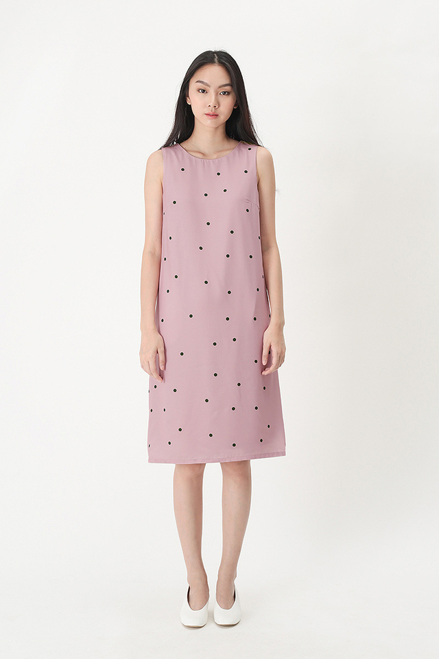 RUBIE POLKADOT TANK DRESS IN PINK