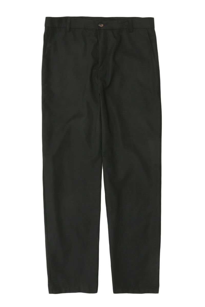 BROWNE TAPERED-FIT TROUSERS IN JET BLACK