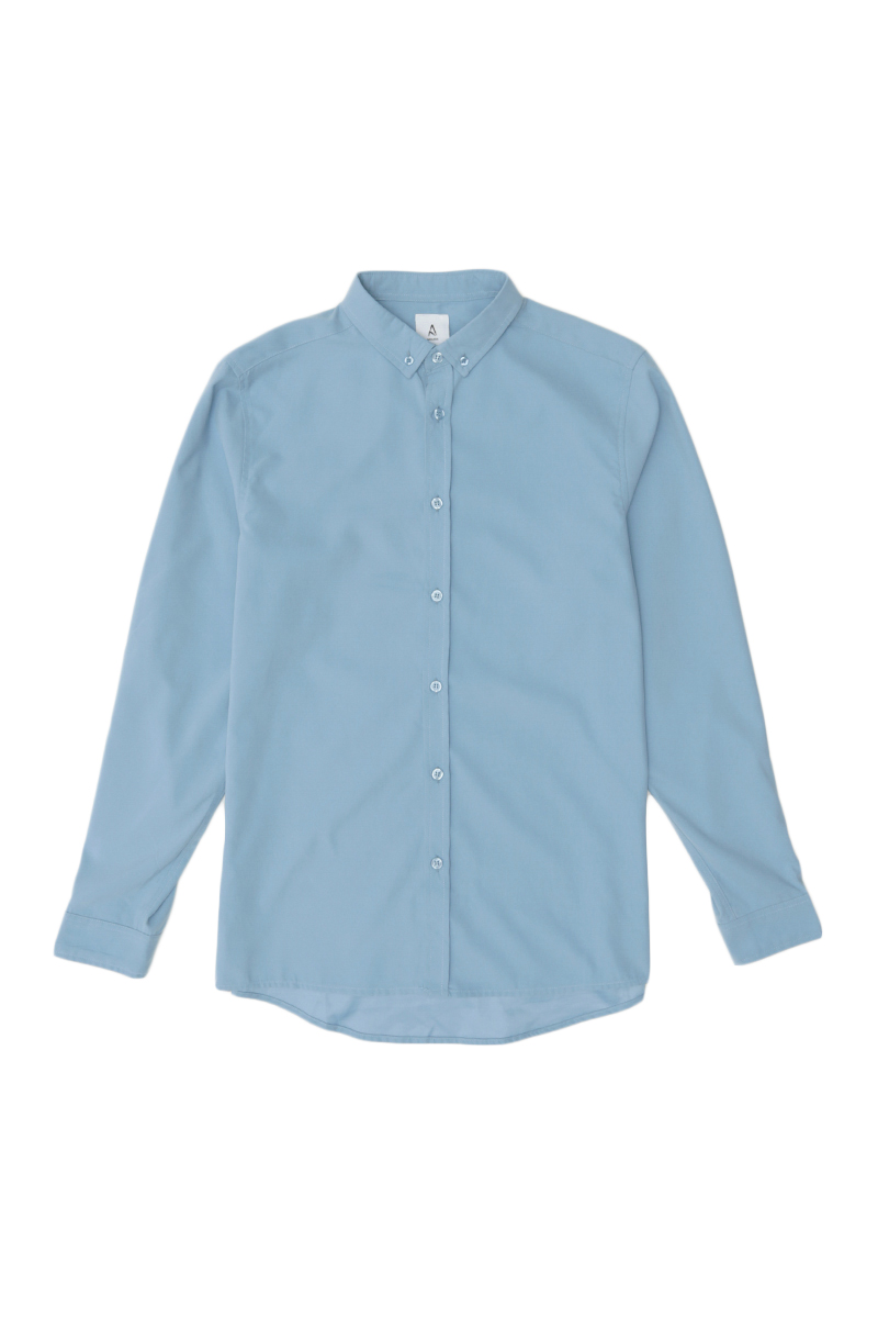FORD LONG SLEEVE BUTTON-DOWN SHIRT IN JORDY BLUE