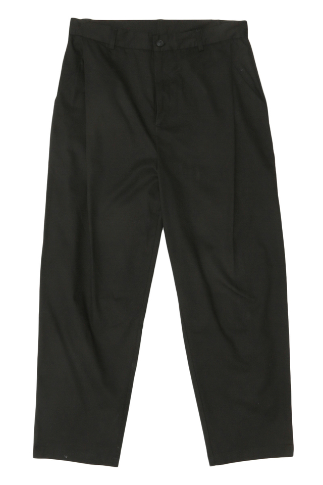 BECKETT SIDE-PLEAT CHINOS IN BLACK