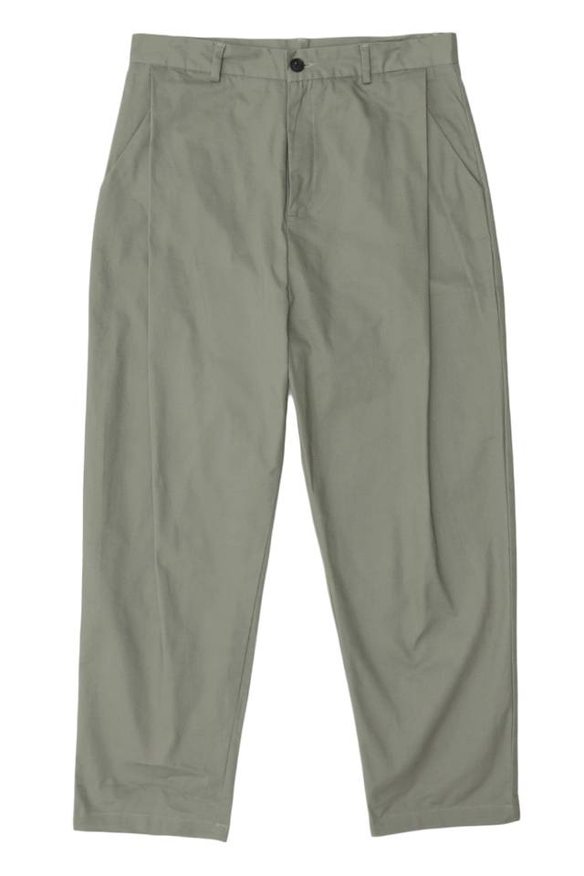 BECKETT SIDE-PLEAT CHINOS IN MOSS