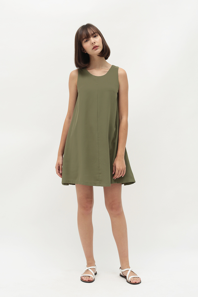 MELISSA TWO WAY TANK DRESS IN SAGE