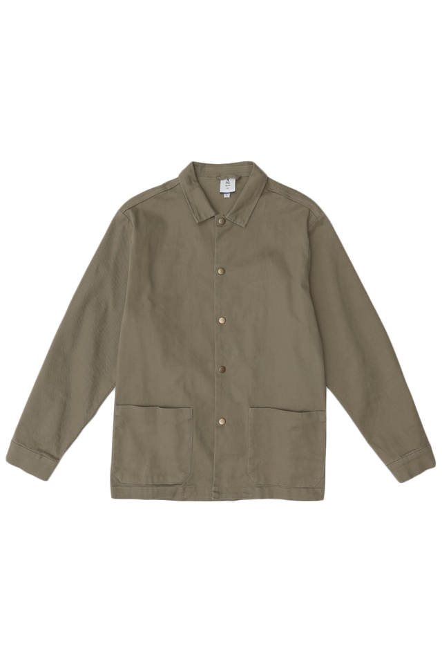 MORRIE PATCH POCKET SHIRT JACKET IN UMBER