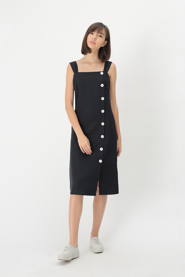 OCTAVIA MIDI DRESS IN DARK NAVY