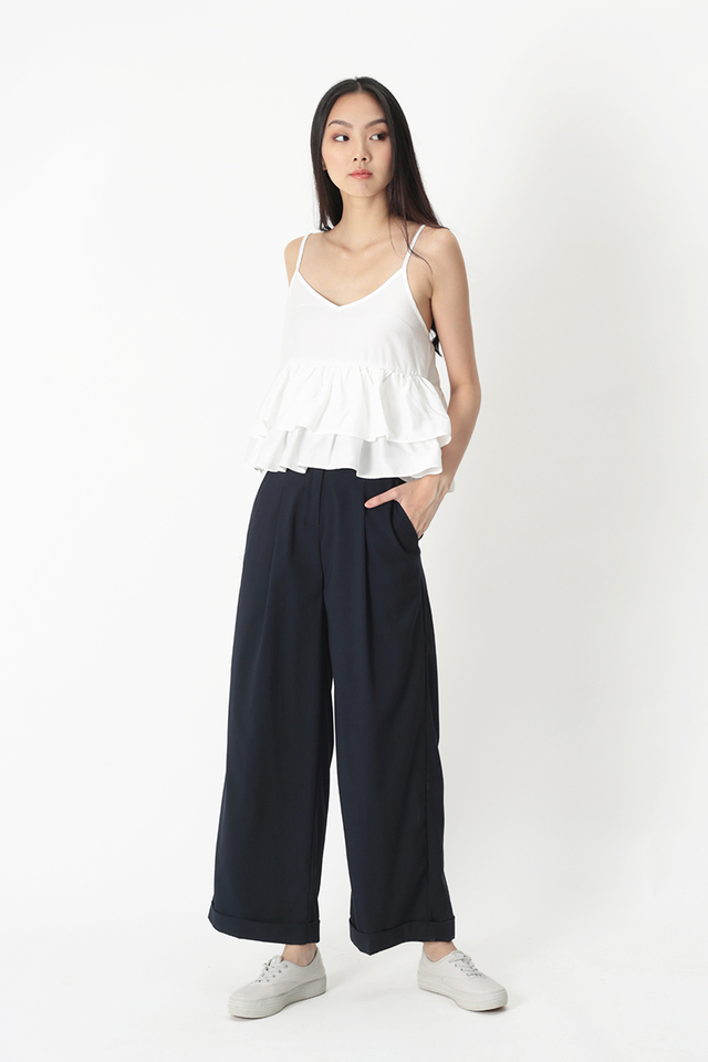 RAE PALAZZO PANTS IN NAVY