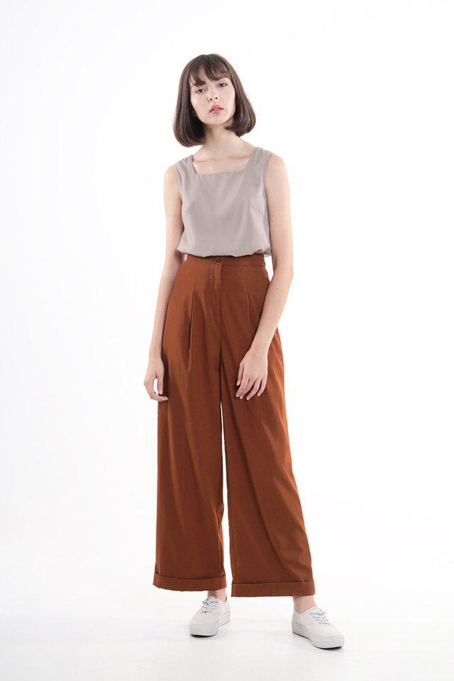 RAE PALAZZO PANTS IN RUST