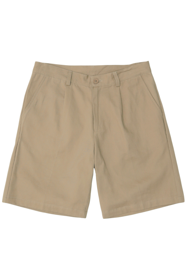 ROBBIE PLEATED SHORTS IN OAK