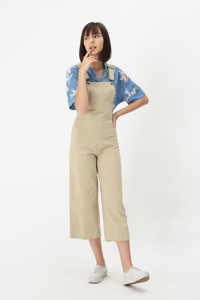 TOMMY SIDE ZIP DUNGAREE IN OAT