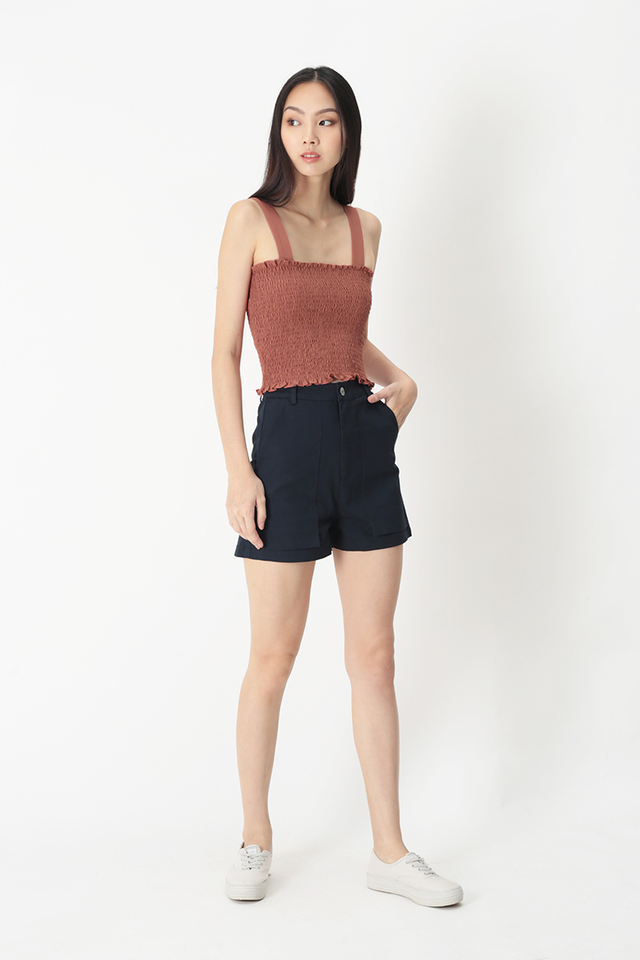 ELLERY RUCHED TOP IN ROSE