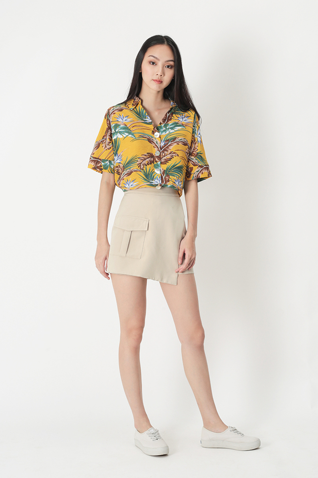 SEAS THE DAY FLORAL SHIRT IN SUNSHINE