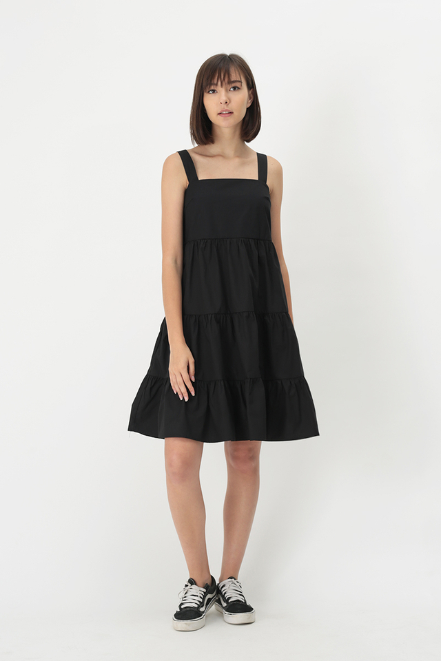 CANDICE TIER DRESS IN BLACK