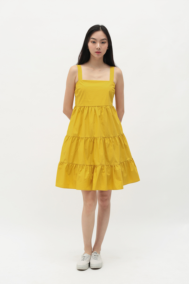 CANDICE TIER DRESS IN HONEY