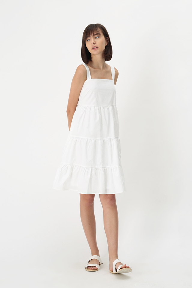 CANDICE TIER DRESS IN WHITE