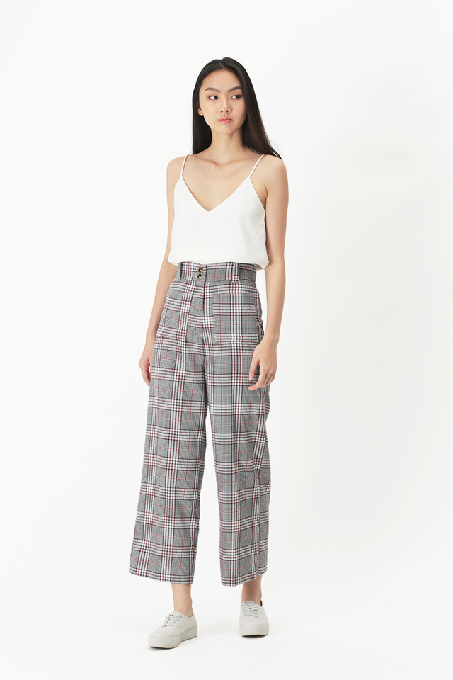 CHARLIE CHECKERED PANTS IN BERRY