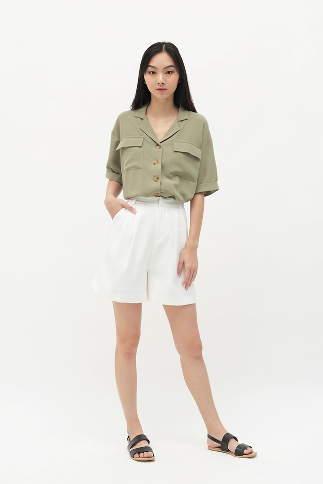 CODY PATCH POCKET SHIRT IN SAGE