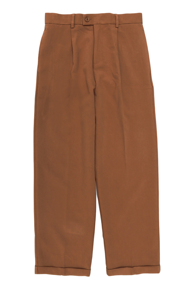 LEE WIDE-LEG CUFFED TROUSERS IN RUST