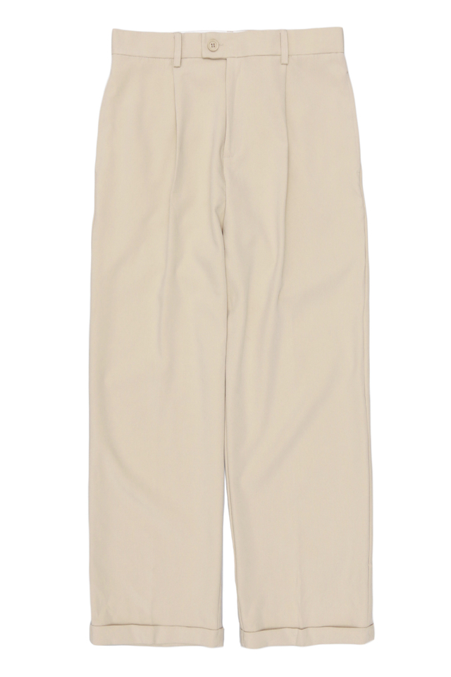 LEE WIDE-LEG CUFFED TROUSERS IN SAND