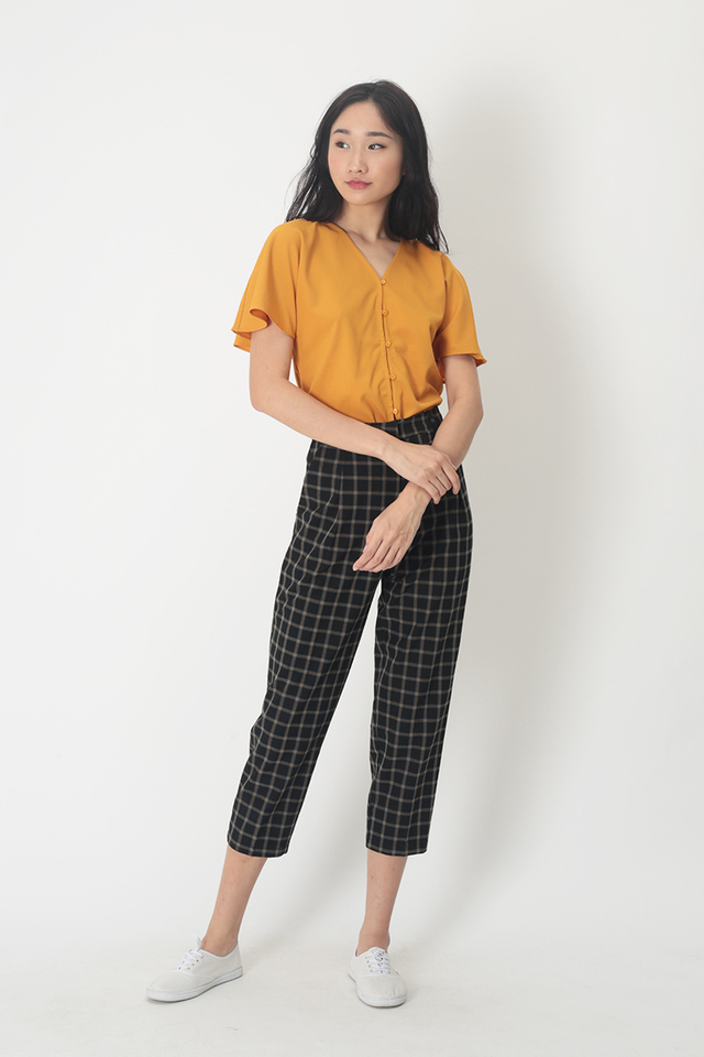 LUCKY STRIKE CHECKERED CIGARETTE TROUSERS IN BLACK
