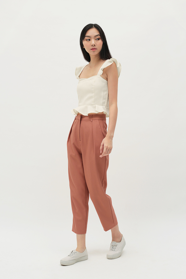 LUCKY STRIKE CIGARETTE TROUSERS IN AUBURN