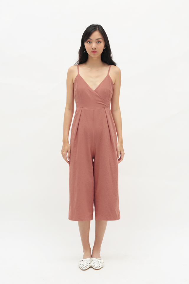 NATASHA CULOTTE ROMPER IN FRENCH PINK