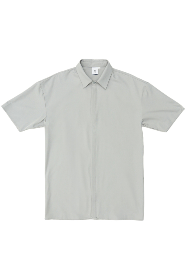 SANS CONCEALED PLACKET SHIRT IN LIGHT GREY