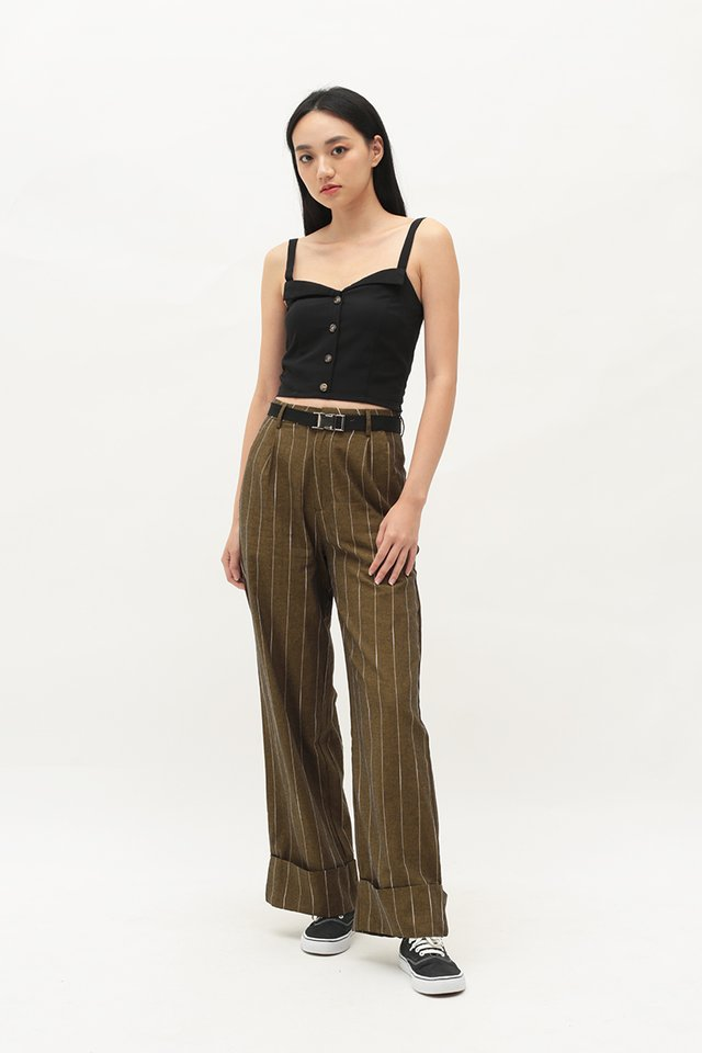 ARCADE x CHLOEANDCHOO STRIPED PANTS IN CIDER